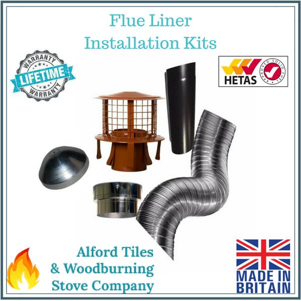 6 Inch 316L Multifuel Flexi Flue Liner Installation Kits For Woodburning Stoves