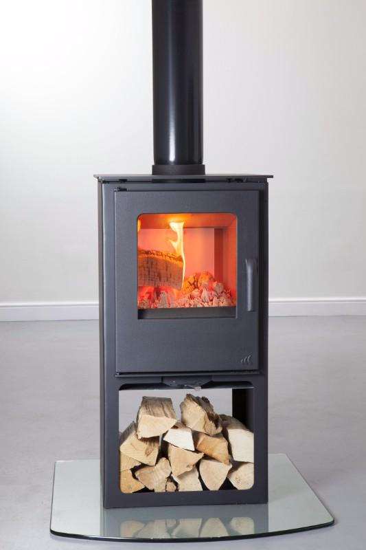 Mendip Loxton 8 Double Sided Logstore Multi Fuel Stove