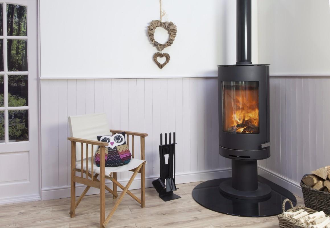 Mendip Somerton II Pedestal - 7.0kw Woodburning Stove