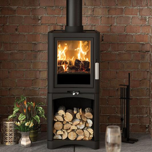 Broseley Evolution 5 Deluxe Multi Fuel Stove with Logstore