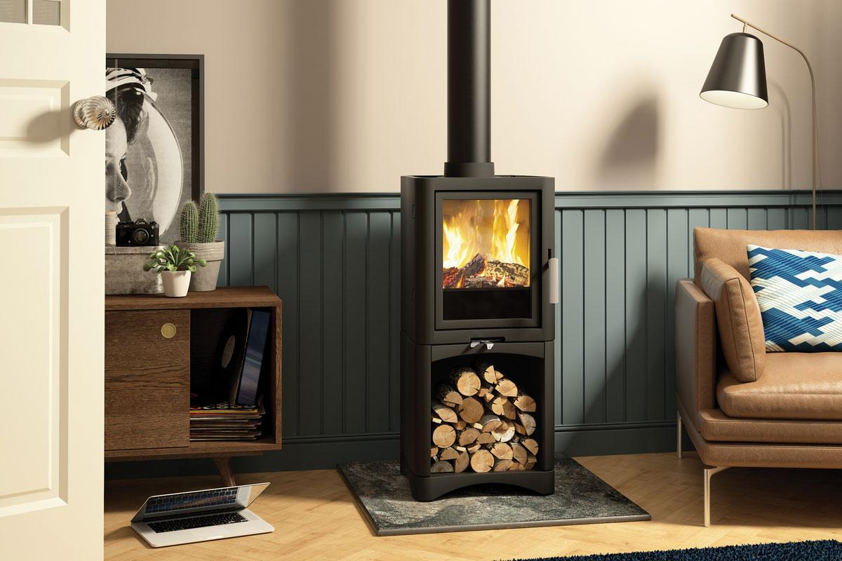Broseley Evolution 5 Standard Multi Fuel Stove with Logstore