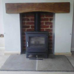 Chesney Salisbury 5kw stove with multi fuel conversion kit fitted