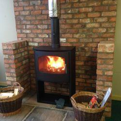 Churchill 10kw log store in local garden centres